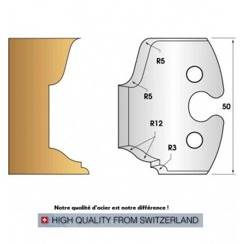 Paire de fers de toupie hauteur 50 mm n° 217 - doucine