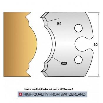 Paire de fers de toupie hauteur 50 mm n° 242 - pieds de table