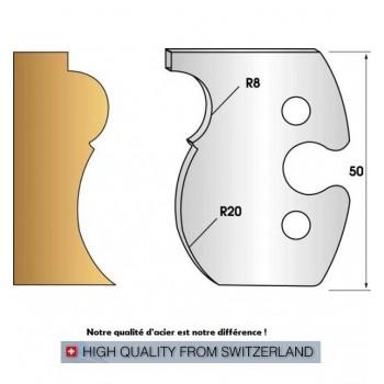 Paire de fers de toupie hauteur 50 mm n° 260 - corniche