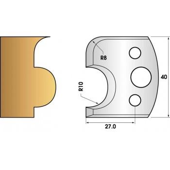Paire de fers de toupie hauteur 40 n° 04 - Boudin