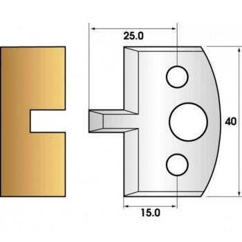 Paire de fers de toupie hauteur 40 n° 16 - rainure 6mm