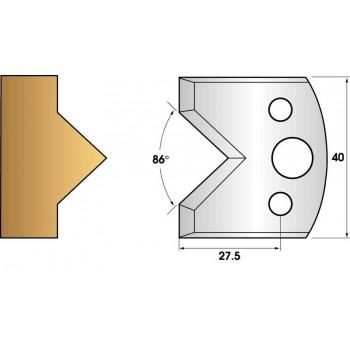 Paire de fers de toupie hauteur 40 n° 34 - enture mâle