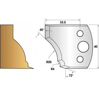 Paire de fers de toupie hauteur 40 n° 109 - moulure pied de table