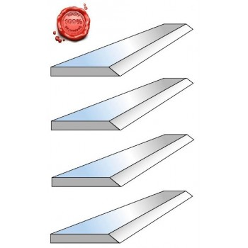 Jeu de 4 fers de dégauchisseuse HSS 18% 310 X 20 X 2.5 mm (kity 2638, scheppach Plana 4.0c)