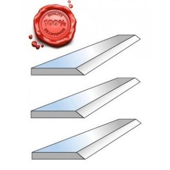 Jeu de 3 fers de dégauchisseuse HSS 18% 250 x 20 x 2.5 mm pour Kity 2636, Scheppach Plana 3.0c