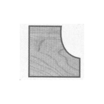 Fraise profil conge+guide Q6 mm - Ø 25.4 - rayon de 6.35