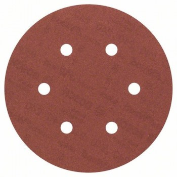 Hook & Loop abrasive disc 6 punched holes 150 mm grit 60, set of 10