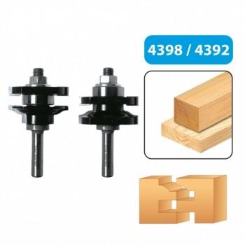 Rail & stile router bit set - Shank 8 mm