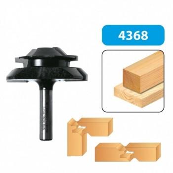 Lock miter router bit  - Shank 8 mm