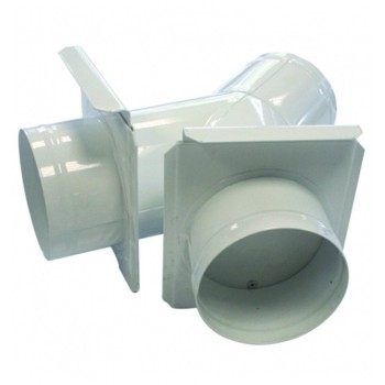 Culotte de bifurcation 150 mm avec tirette d'obturation + 2 sorties 150 mm