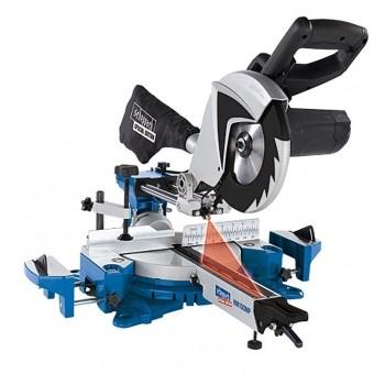 Troncatrice radiale Scheppach HM100MP con multimaterials di lama e 2 velocità di taglio!