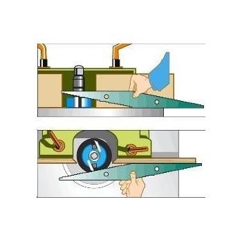 Réglet de toupilleur : ajustar fácilmente a las herramientas de la peonza !