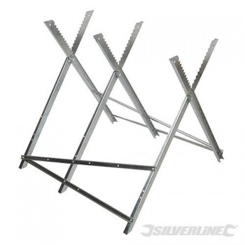 Steel sawhorse for chainsaw