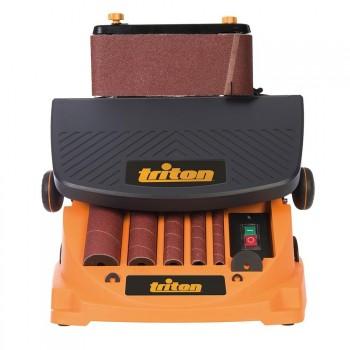 Ponceuse à bande et à cylindre oscillante Triton TSPS T450 2-en-1
