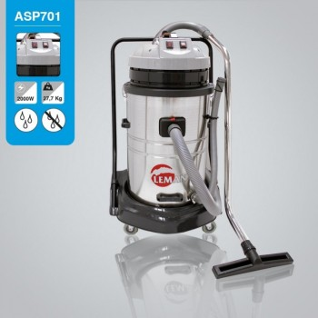 Vacuum cleaner stainless steel tank water and dust Leman ASP701