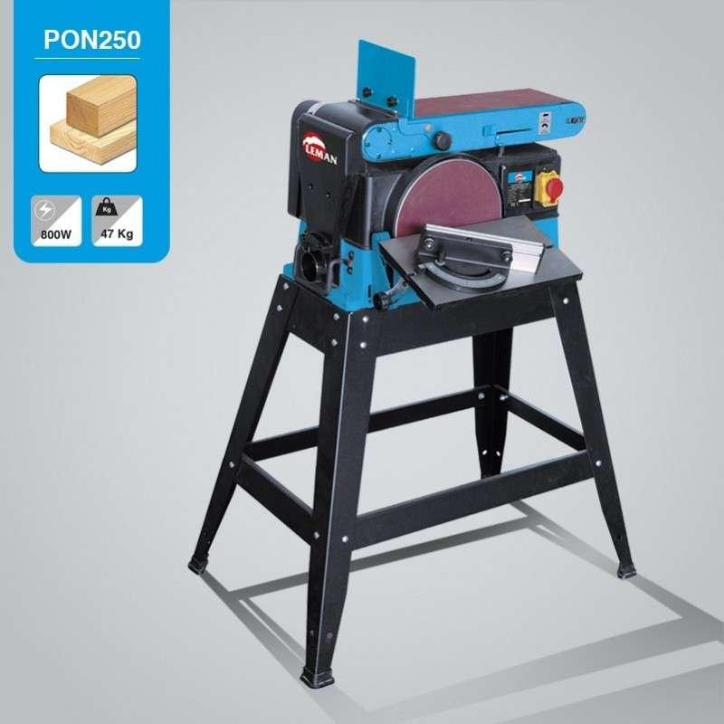 Ponceuse bande leman pon250 probois machinoutils - Ponceuse stationnaire a bande ...