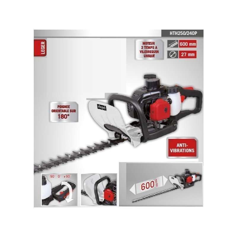 hedge trimmer heat scheppach hth250 25 4 cm cube probois machinoutils. Black Bedroom Furniture Sets. Home Design Ideas
