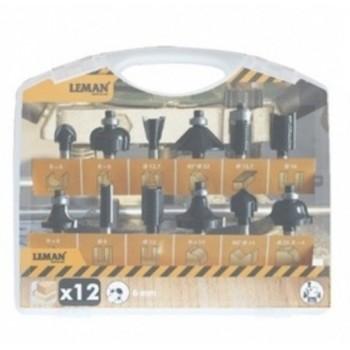 12-teilige Fräsersets  - Shaft 6 mm
