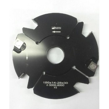 Grooving cutter adjustable 14 to 28 mm Ø150 mm