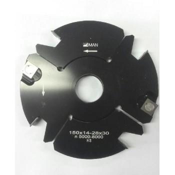Porte-outils à tenons & rainures extensibles de 14 à 28 mm dia. 140 al 30 Z2+2 V2+2