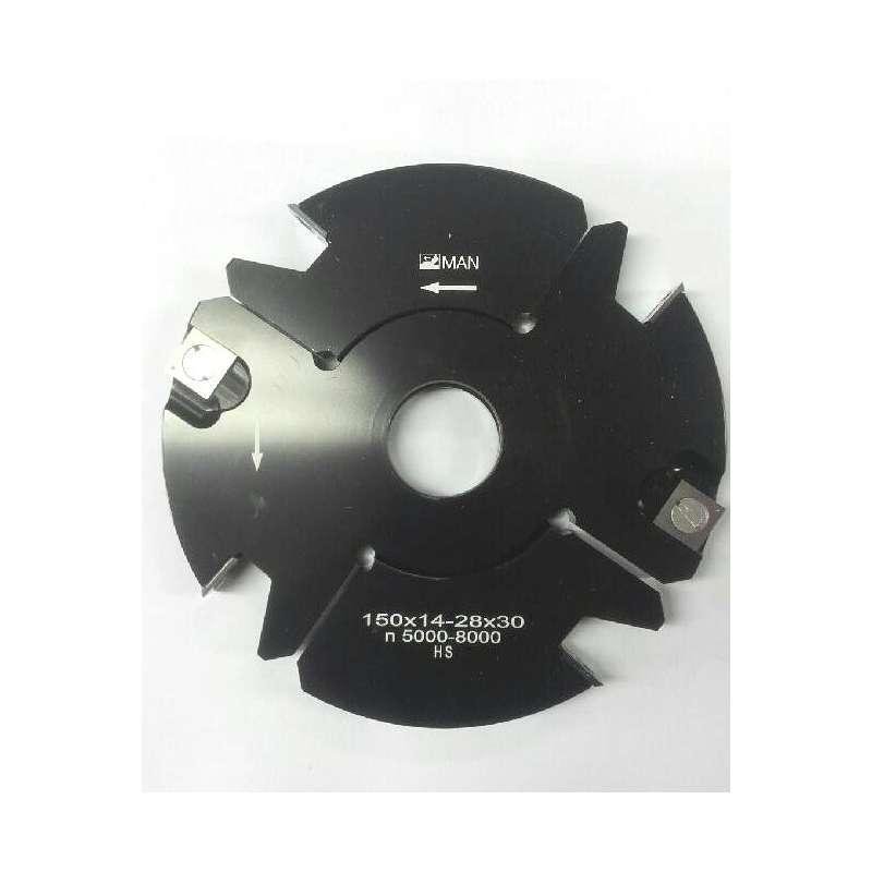 Grooving cutter adjustable 14 to 28 mm Ø160 mm