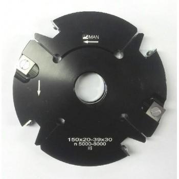 Porte-outils à tenons & rainures extensibles de 20 à 40 mm dia. 150 al 30 Z2+2 V2+2