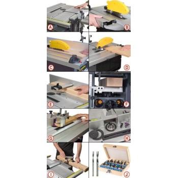Mini combiné à bois Kity Scheppach Combi 6 avec accessoires