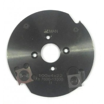 Grooving cutter dia 100 mm with 4 or 8 cuts
