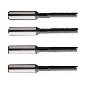 Ensemble de 4 mèches à mortaiser avec brise copeaux, queue 10 et 13 mm, rotation gauche