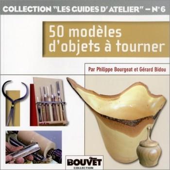 Livre avec 50 modèles d'objets à tourner au tour à bois