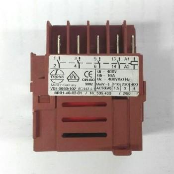 Contacteur marron 400V pour dégauchisseuse Kity 637, 1637 et toupie 609