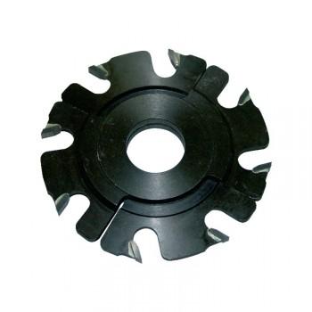 Fraise à rainer carbure 8 coupes Ø120 extensible 5 à 10 mm