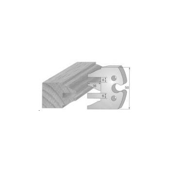 Paire de fers de toupie hauteur 50 mm n° 232 - profil/contre-profil