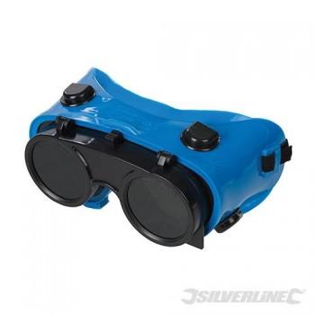 Occhiali di protezione per saldatura