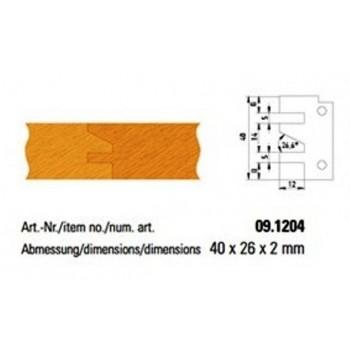 Conjunto de 2 plaquitas de metal duro formulario 4 para perfil-perfil