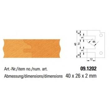 Profilmesser Form 2 für Profil- und Konterprofilmesserköpfe