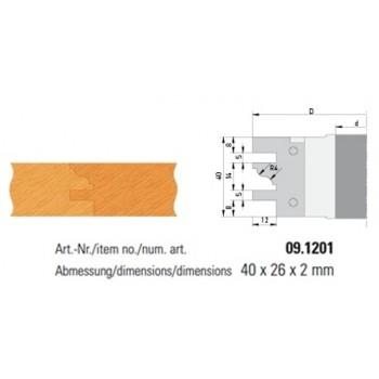 Conjunto de 2 plaquitas de metal duro formulario 1 para perfil-perfil
