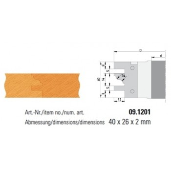 Profilmesser Form 1 für Profil- und Konterprofilmesserköpfe