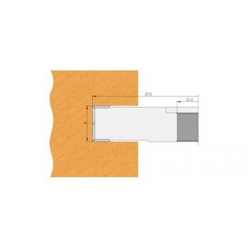 Portacoltelli dia 100 mm per incastri spessore 25 mm