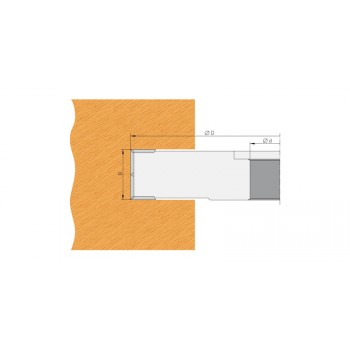 Wendeplatten-Falzmesserkopf Ø100 mm dicke 25 mm