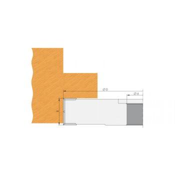 Wendeplatten-Falzmesserkopf Ø150 mm dicke 25 mm