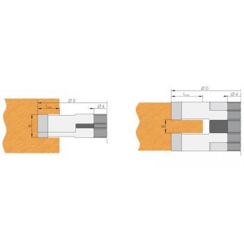 Portacuchillas para ranurar de 14 a 28 mm dia 150 mm