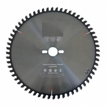Lama per sega circolare con denti a punta concava diametro 220 mm