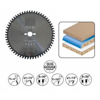 Lama per sega circolare con punta concava diametro 250 mm