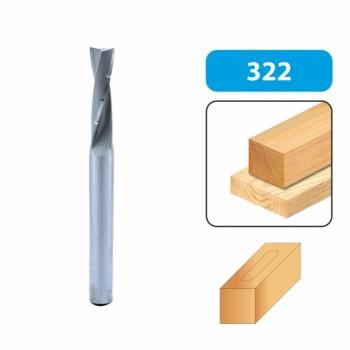 Broca de corte helicoidal para escoplear 12 mm cola 12 mm - Rotación derecha