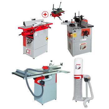 Combiné composé de machines séparées : un atelier complet à petit prix !