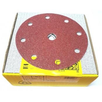 Disque abrasif velcro 8 trous 150 mm Grain 60 - Qualité Pro (50 pièces)  !