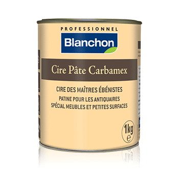 Wax Briançon carbamex dough, box of 400 (g - Colori ebony