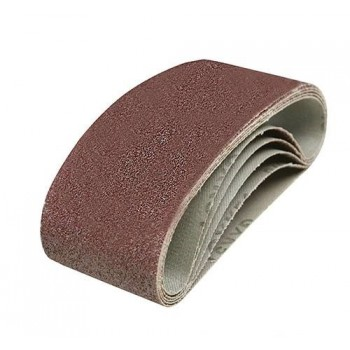 Bande abrasive 100x610 mm, différents grains, le lot de 5