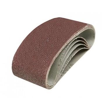 Bande abrasive 100x610 mm, différents grains, le lot de 5